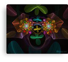 Spiral Plastic Flowers Canvas Print