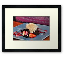 Decadence is Delicious Framed Print