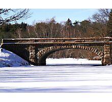 Frozen pond Photographic Print