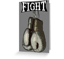 Fight - Vintage Boxing Gloves  v2 Greeting Card