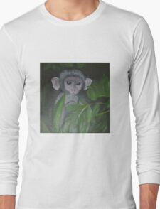 """Face in the forest"" Long Sleeve T-Shirt"