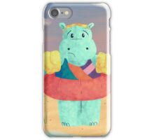 Nervous Beachy Hippo iPhone Case/Skin