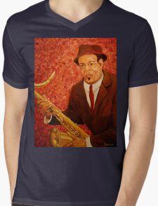 Portrait of Jazz Mens V-Neck T-Shirt