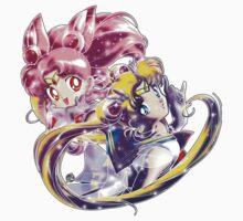 Super Sailor Moon & Chibi Moon (edit 1/B) Kids Tee