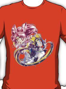 Super Sailor Moon & Chibi Moon (edit 1/B) T-Shirt