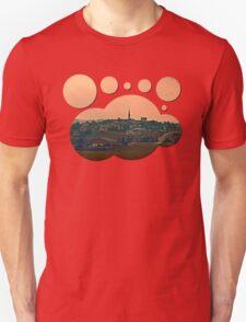 Hazy scenery with beautiful village skyline | landscape photography Unisex T-Shirt