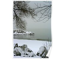 Lake Michigan Shore's In Winter Poster