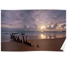 SS Dicky Wreck At Dawn Poster