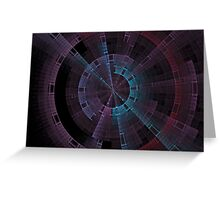 Tech Tunnel Time Wheel Greeting Card