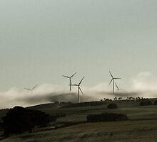 Windfarms outside Ballarat by finirat