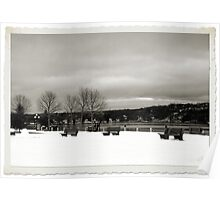 A Winters Day - DeWolf Park Poster
