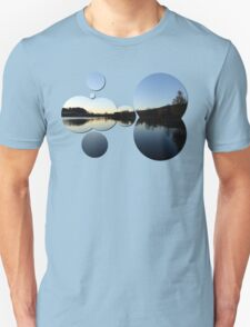 Indian summer sunset at the fishing lake IV | waterscape photography T-Shirt