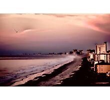 THE GRAND STRAND AS THE DAWN BREAKS IN PINK CLOUDS Photographic Print