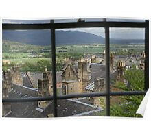 View across Stirling from the Castle mound Poster