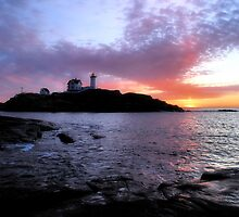 Sunrise Over Nubble Light by George's Photography