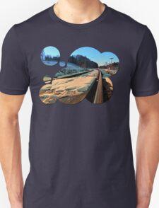 Railroads in winter wonderland | landscape photography T-Shirt