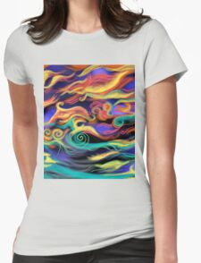 Sky dancing Womens Fitted T-Shirt