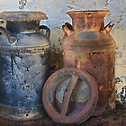 Old Milk Cans by Floyd Hopper