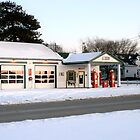 My Cousin&#x27;s Gas Station on Old Route 66 in Dwight, Illinois by Susan Russell