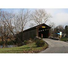 Covered Bridge in Lancaster County, Pennsylvania Photographic Print