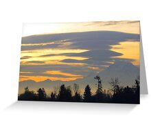 Mount Rainier from Kent, sunrise, near Seattle  Greeting Card