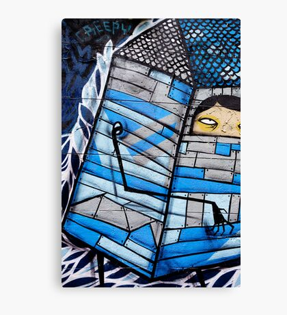 Creepy Graffiti Canvas Print