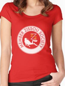 Member Zissou Society (White) Women's Fitted Scoop T-Shirt