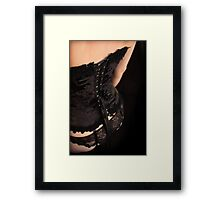 lace + laces Framed Print