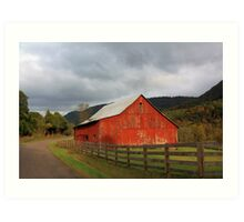 Red Barn in Poor Valley  Art Print