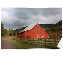 Red Barn in Poor Valley  Poster
