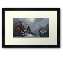 Blood knight Framed Print