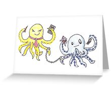 octopus death note Greeting Card