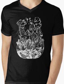 White robots Mens V-Neck T-Shirt