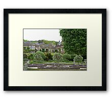 Holker Hall, Cumbria, view of house across willow parterre Framed Print