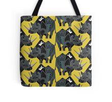rhinoceros yellow Tote Bag