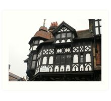 Chester, UK, half-timbered magnificence Art Print