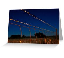 Along the Barbed Wire Greeting Card