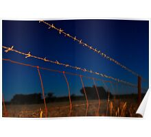Along the Barbed Wire Poster