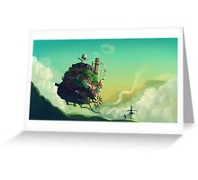 Anime floating castle Greeting Card