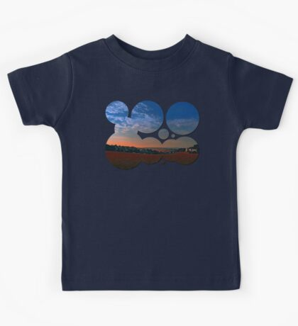 Small rural town skyline at sunrise II   landscape photography Kids Tee