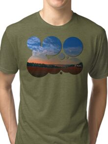 Small rural town skyline at sunrise II | landscape photography Tri-blend T-Shirt