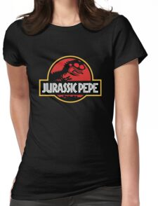 Jurassic Pepe - Pepe the frog Womens Fitted T-Shirt