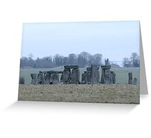 Moods of Stonehenge 4 - The day before the snow Greeting Card