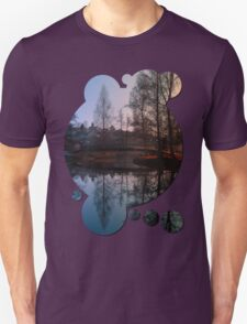 A bridge, the river and reflections III | waterscape photography T-Shirt