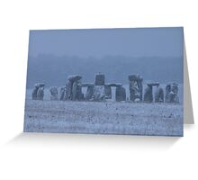 Moods of Stonehenge 5 - In the snow Greeting Card