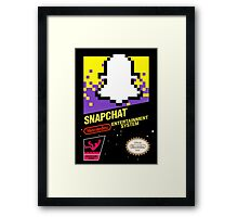 NES Snapchat Framed Print