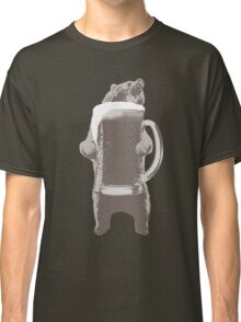 Funny Grizzly Bear & Giant Beer Classic T-Shirt