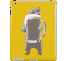Funny Grizzly Bear & Giant Beer iPad Case/Skin