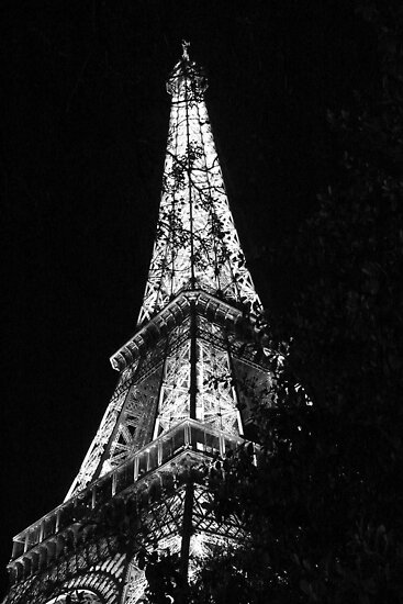 Eiffel Tower Black and White - Paris, FR by Olivia Son