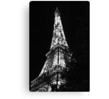 Eiffel Tower Black and White - Paris, FR Canvas Print